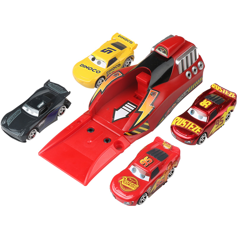 5Pcs/set Disney Pixar Cars 3 Lightning McQueen 1:55 Diecasts Toy Vehicle Plastic Model Cars Christmas Gift Toys For Children Kid скуби ду лего
