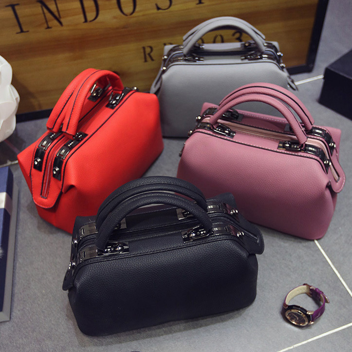 2018 Women Fashion casual Boston handbags women evening clutch messenger bag ladies party famous brand shoulder crossbody bags 3