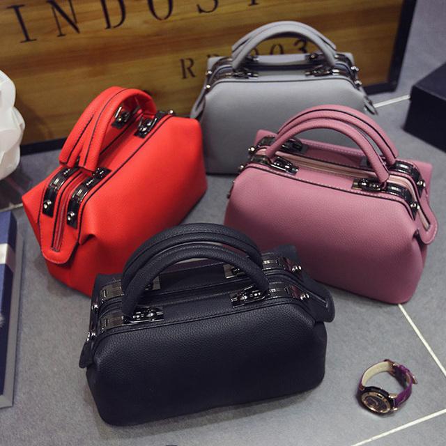 2017 Women Fashion casual Boston handbags women evening clutch messenger bag ladies party famous brand shoulder crossbody bags