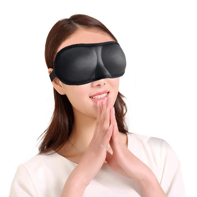 Fashion 3D Sleeping Eye Mask Memory Sponge Padded EyeShade Shade Cover Eyepatch Office/Travel Sleep Blindfolds Eye Bandage