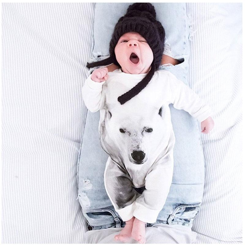 primavera beb oso mono animal de algodn traje de manga larga beb recin nacido trajes