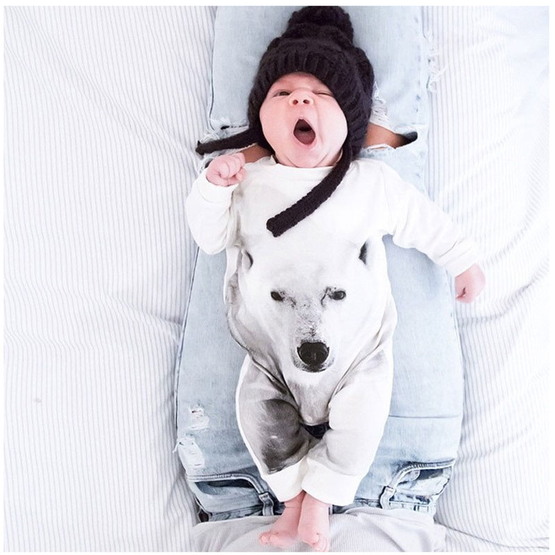 2016 Spring Baby Boy Bear Jumpsuit Cotton Animal Costume Long Sleeve Baby Overalls Newborn Boy Clothes Rompers Boys Outfit