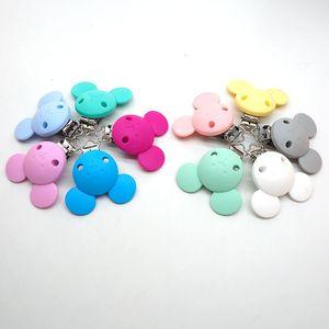 Image 5 - Chenkai 10PCS 실리콘 젖꼭지 더미 Teether 체인 홀더 클립 DIY 베이비 마우스 동물 간호 장난감 액세서리 BPA 무료