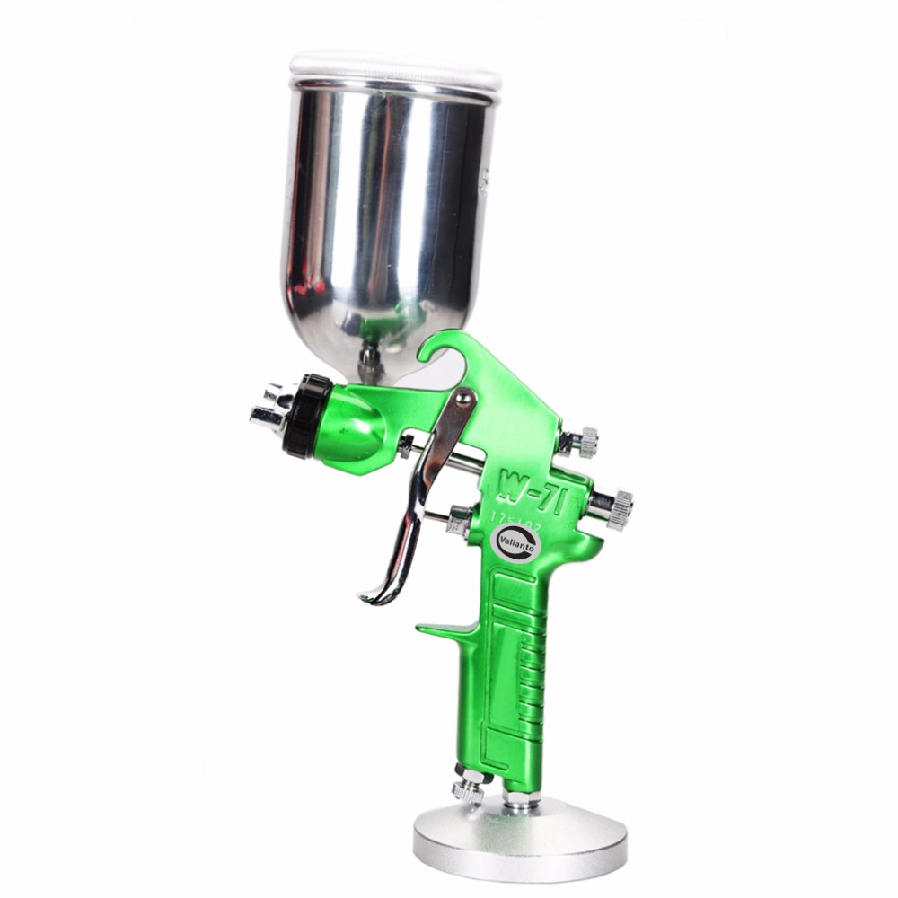 W71-G Green Professional HVLP Paint Spray Gun Gravity Feed High quality Air Spray Gun Use for Car /Sprayer Air Tool hvlp spray gun auto car paint spot repair professional spraye tools spray gun lvlp
