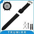 24mm Faixa De Relógio de Borracha de Silicone + Adaptador Lug + Ferramenta para Suunto Core Pré-v Cinto de Fivela Correia de Pulso Pulseira Inoxidável preto
