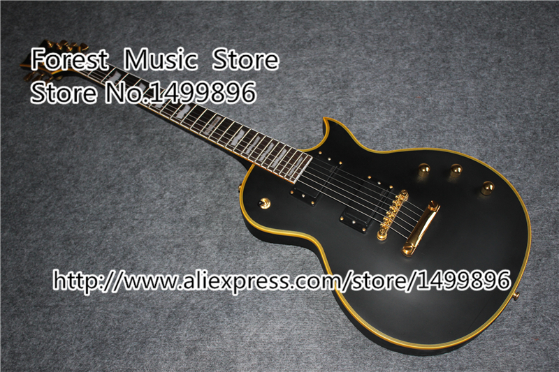 все цены на  High Quality Matte Black Top Guitar Body ESP LTD Eclips Guitars Electric From China Factory  онлайн