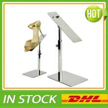Free Shipping Metal Polished Shoe Display Stand Riser Holder Sandal