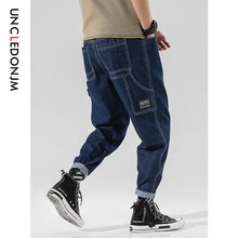 UNCLEDONJM 2019 Mens Casual Jeans Pants Autumn Denim Cotton Vintage Wash Hip Hop Work Trousers Streetwear 510W