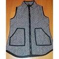 Autumn Winter women fall fashion Herringbone Vest Designer Inspired black denim vest Quilted Cotton Puffer Vest plus Size M-3XL