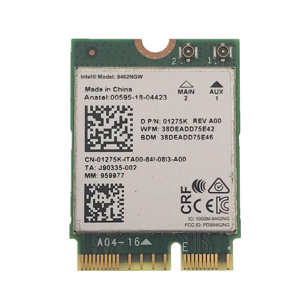 For Intel 9462NGW 2.4G&5G Dual Band 433M NGFF CNVI 802.11AC Wireless Wifi Network Card Bluetooth 5.0
