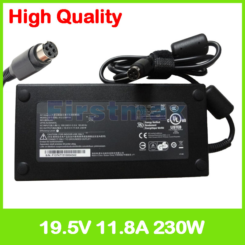 19.5 v 11.8A laptop charger power adapter ac para MSI GT73EVR GT73VR GT75VR 7RD 7RE Titan A230A003L A12-230P1A