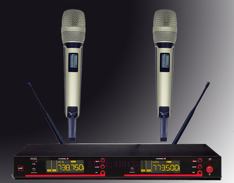 digital SKM 9000 5200 skm9000 style UHF band dual handheld vocal karaoke stage performance wireless microphone system
