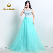 цена на Free Shipping V-Neck Off the Shoulder A-Line Natural Embroidery Prom Dresses Evening Dresses