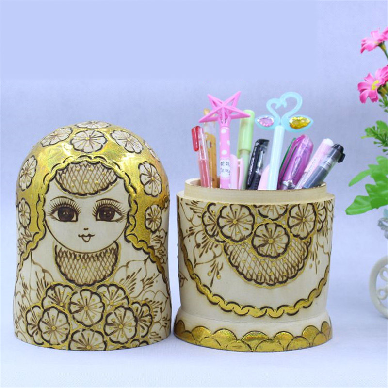 Mnotht Alpine basswood Matryoshka poupées 10 couches bricolage éducation artisanat fait à la main L45 russe nidification poupée en bois jouets ethniques