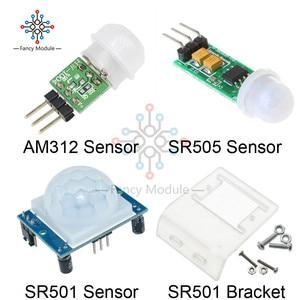 HC-SR501 HC-SR505 Отрегулируйте пироэлектрический инфракрасный обнаружения движения модуль AM312 модуль движения Сенсор SR501 кронштейн для Arduino