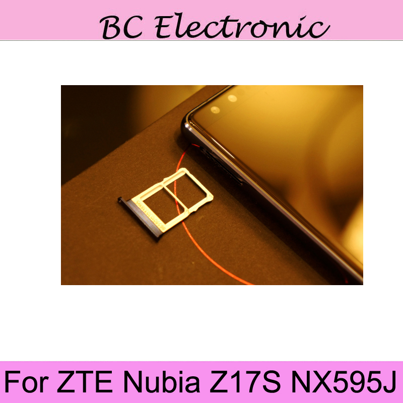 For ZTE Nubia Z17S NX595J New Original Sim Card Holder Tray Card Slot For ZTE Nubia Z17 S NX595J Sim Card Holder