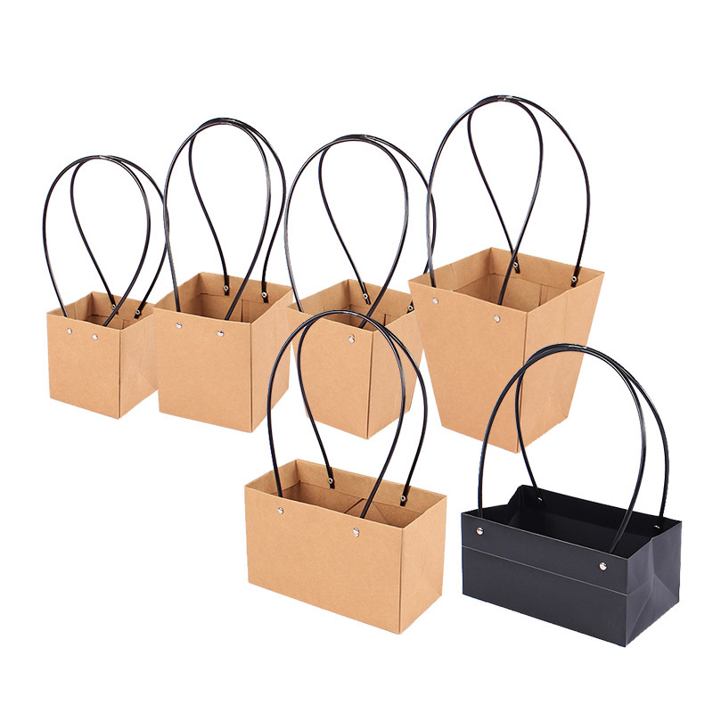 5pcs Lot Kraft Paper Bag Diy Valentine S Day Flower Wrapping Box