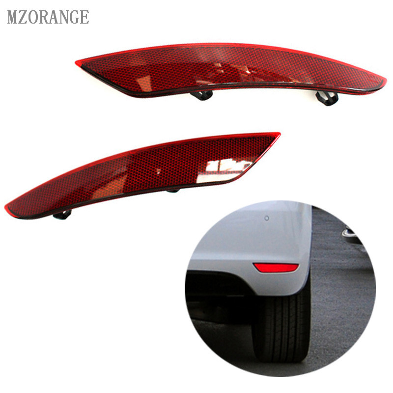 MZORANGE 2PCS ABS Rear Bumper Reflector Lamps Auto Car-Styling Rear Light for Volkswagen For VW Golf 6 2009-2013 Without Bulb 2pcs car styling auto no error under mirror led puddle light lamp for volkswagen vw golf mk6 gti touran 2011 white accessories