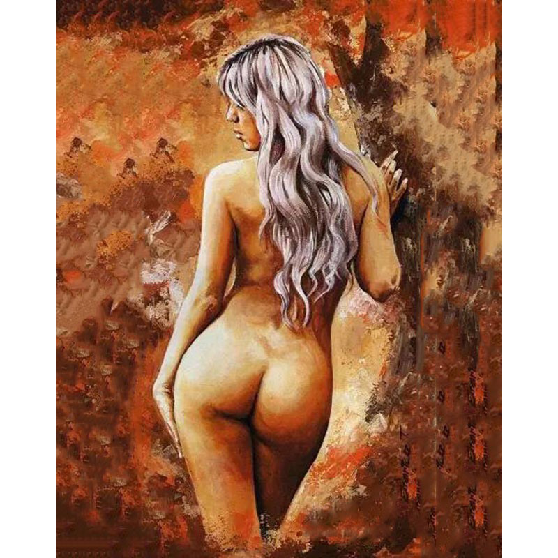 Naked Big Ass Beauty.40x50cm,Painting By Numbers,DIY,wall Art,Living Room Decoration,Figure paint