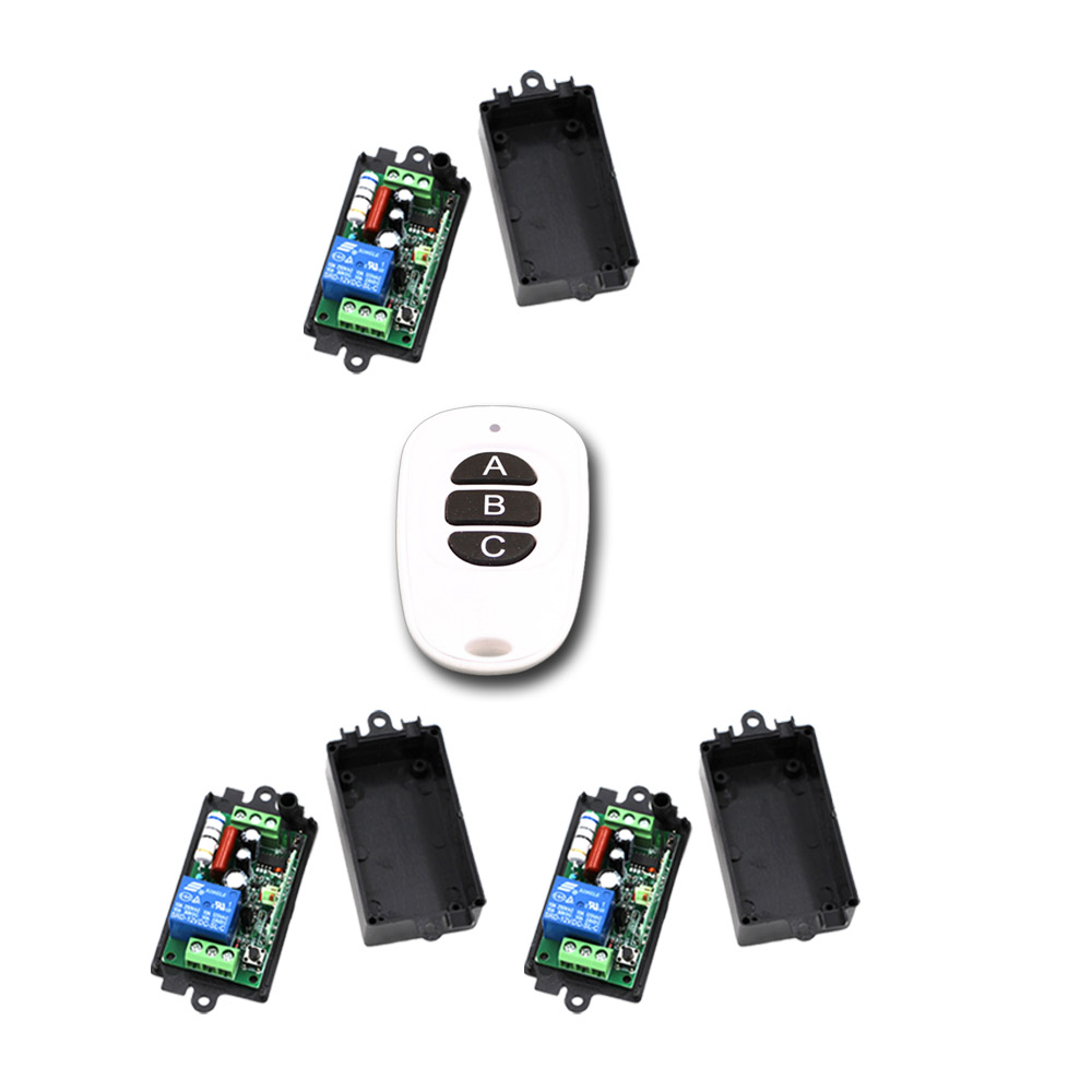 Wireless Remote Control Switch RF Remote Switch 1CH 10A Relay AC 110V/220V Receiver With 3 Button Transmitter 315/433Mhz wireless pager system 433 92mhz wireless restaurant table buzzer with monitor and watch receiver 3 display 42 call button