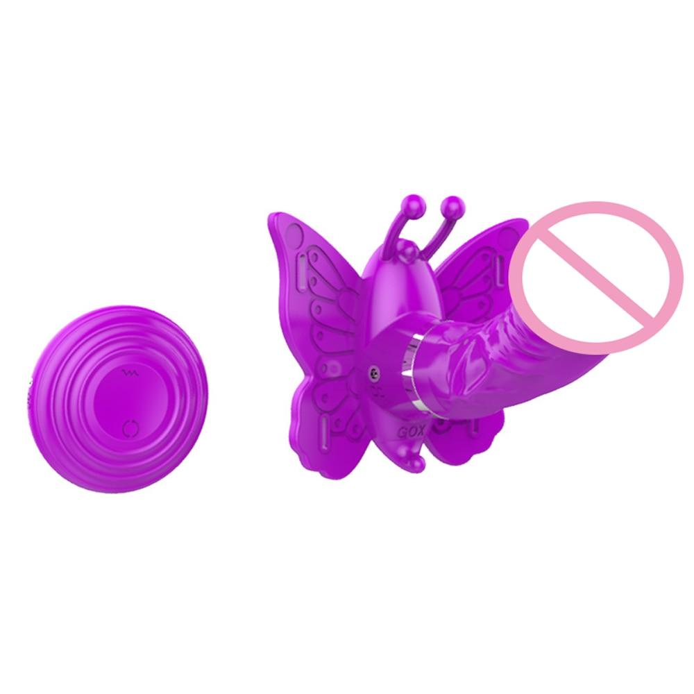 DIBEI Wireless Remote Control Strap on Clit G Spot Dildo Vibrator USB 360 degree Rotation Vibrating Panties Sex Toys for Women