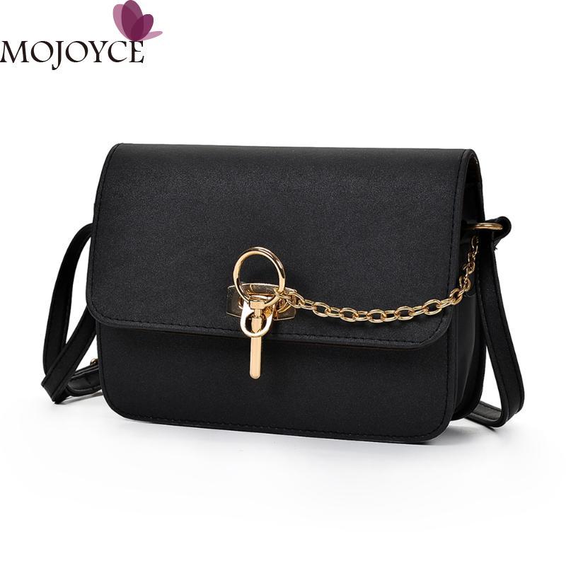 Retro Simple Long Chain Crossbody Bag for Women PU Leather Handbags Small Square Shoulder Bags Female Messenger Bags Handbag New