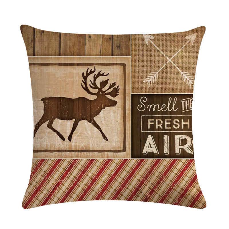 45 cm * 45 cm Antike elch und brown bear design leinen/baumwolle werfen kissen deckt couch kissen abdeckung hause dekorative kissen