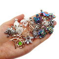 20pcs Mixed colors Hybrid models Zinc Alloy Pearl Cage Pendants Aromatherapy Essential Oil Diffuser Jewelry Necklace DIY Jewelry