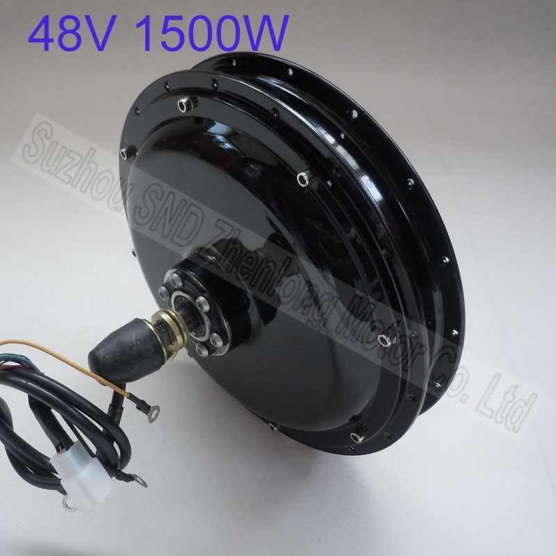 60V 48V 1500W For ebike Rear Motor Electric Bicycle Brushless Gearless Powerful Hub Motor Cycling Kits