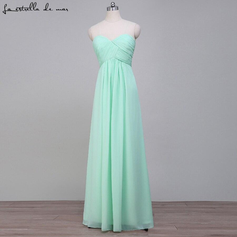 Vestido para madrinha casamento longo2018 new sexy sweetheart Off the Shoulder Chiffon a Line Mint Green Pink   Bridesmaid     Dress