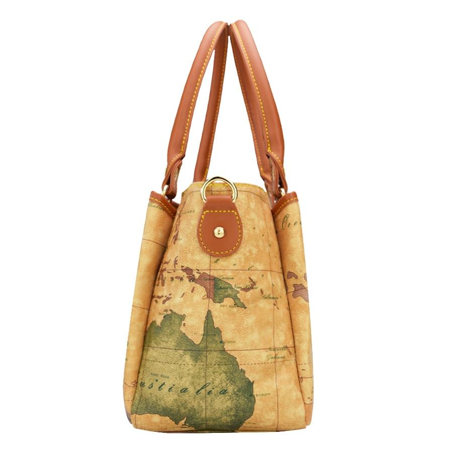 Haute qualité carte du monde femmes sac mode femmes messenger sacs spécial sac à main marque designer sac à bandoulière rétro sacs d'école - 4
