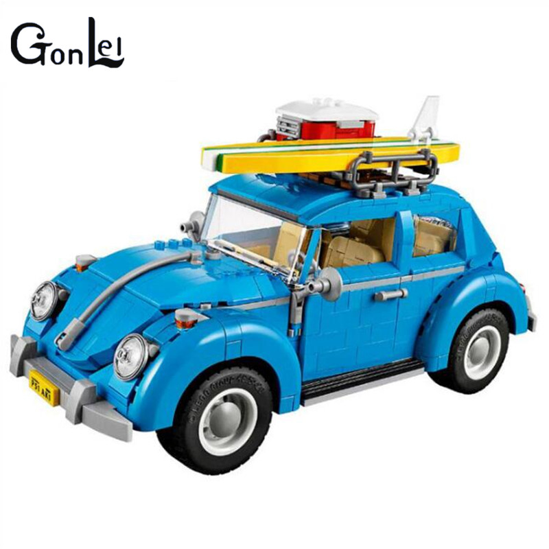 цены (GonLeI) Yile 003 Creator Series City Car Beetle Building Blocks 10252 technic bricks 21003 action figure vehicle toys