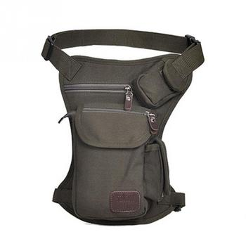 2018 Men Canvas Drop Leg Bag Waist Fanny Pack Belt Hip Bum Military travel Multi-purpose Messenger Shoulder Bags 2