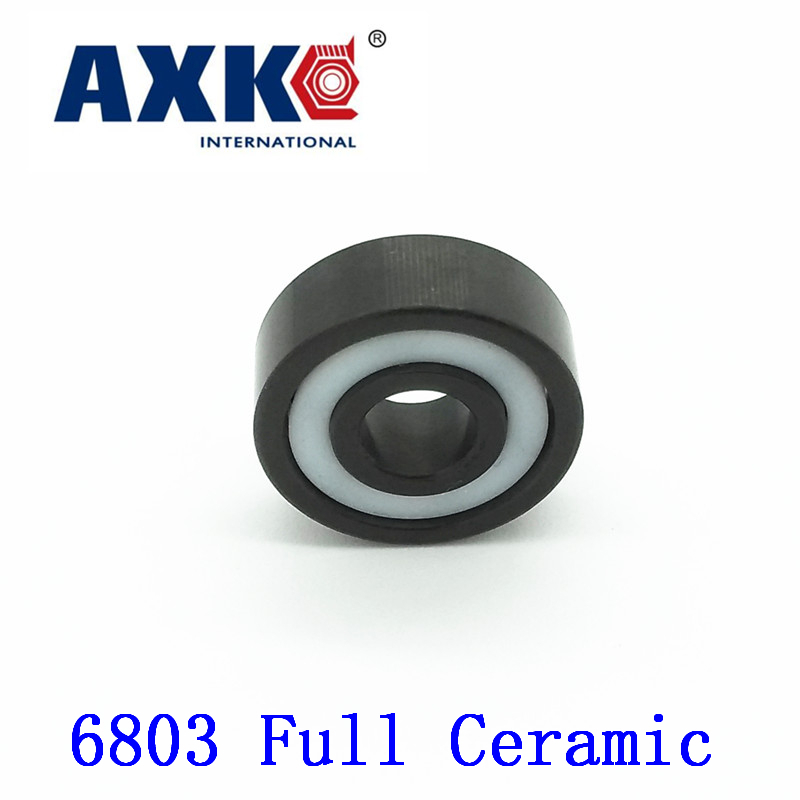 2017 Hot Sale Real Axk 6803 Full Ceramic Bearing ( 1 Pc ) 17*26*5 Mm Si3n4 Material 6803ce All Silicon Nitride Ball Bearings цена