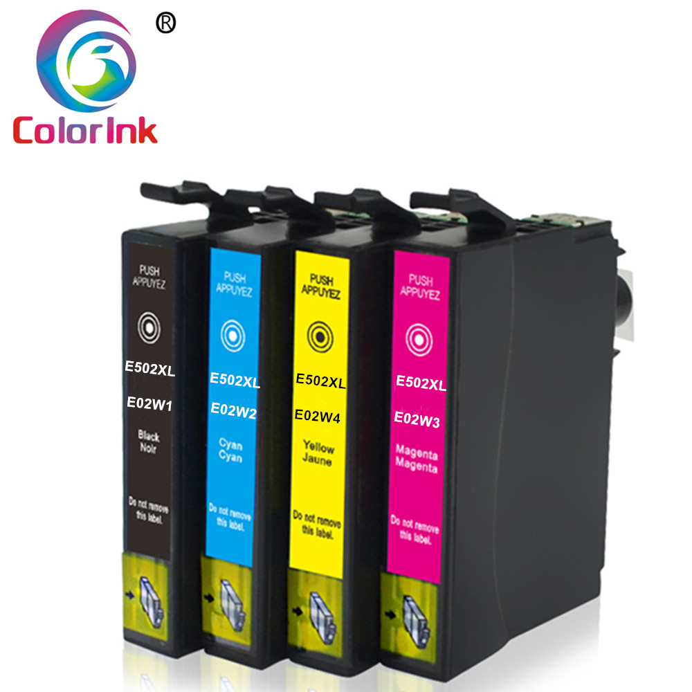 ColoInk 4Pack Black Ink For Epson 502XL T502XL Ink Cartridge 502 For Epson Expression Home XP-5100 XP-5105 WF-2860DWF WF-2865D