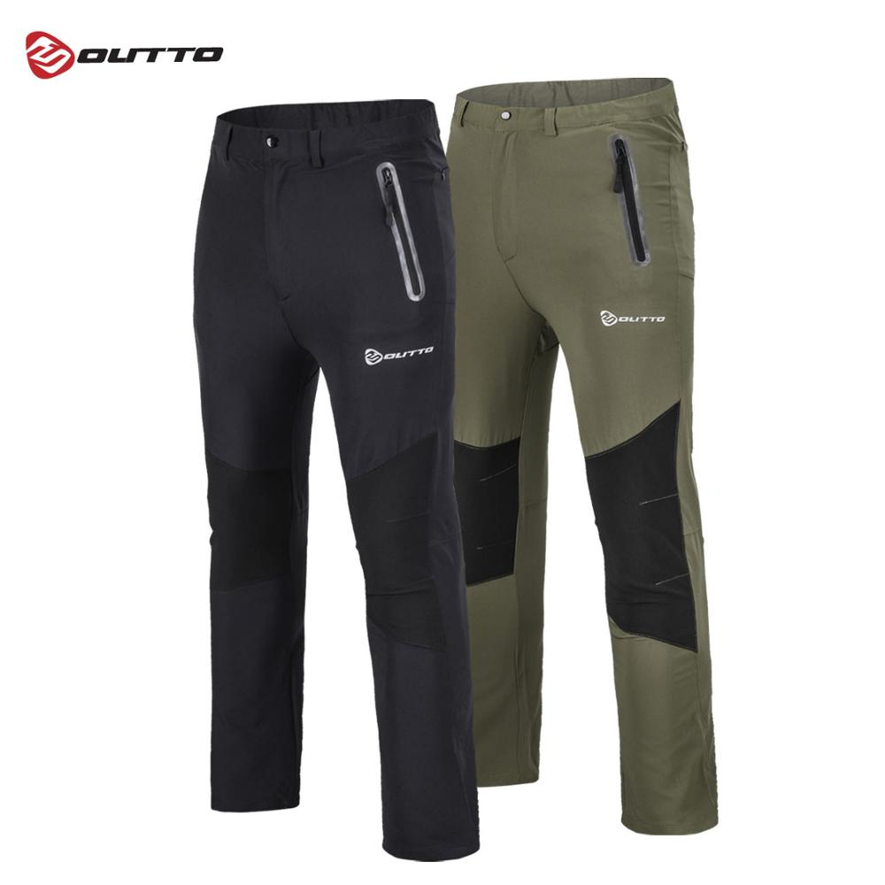 Outto Men's Quick Dry Hiking Pants Outdoor Sport Summer Breathable Thousers Camping Fishing Waterproof Mountain Trekking Pant