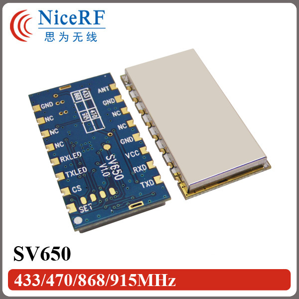 2buc / lot SV650 TTL 433MHz Încorporat 3 km Modul de emițător digital fără fir pentru distanțe lungi Pentru sistem de control de la distanță de securitate