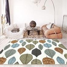 Nordic Cartoon area carpet fresh ins plant leaves kid room sofa table bedroom full of bedside rug kitchen bathroom study mat