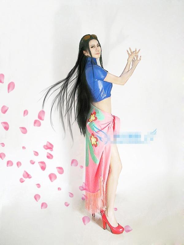 ONEPIECE!Nico Robin Cosplay Costume Sexy Beach Dress Shirt+dress W