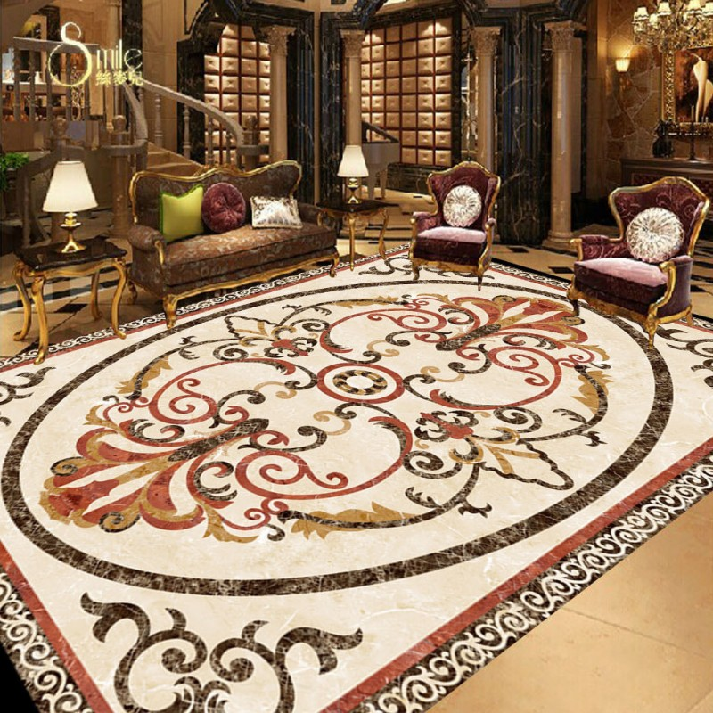 Free shipping custom 3d floor mural High definition marble parquet floor painting anti-skidding thickened living room wallpaper free shipping marble texture parquet flooring 3d floor home decoration self adhesive mural baby room bedroom wallpaper mural