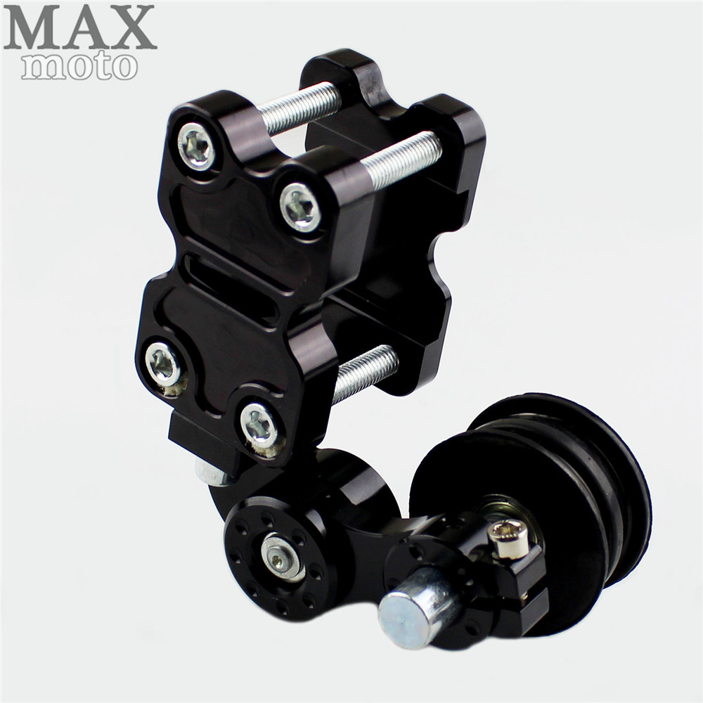 Universal Motorcycle Aluminum Rubber Chain Tensioner ATV Chopper Bike for XJR FJR 1300 1200 FZR 1000 TMAX 530 500 TMAX530 dwcx motorcycle adjustable chain tensioner bolt on roller motocross for harley honda dirt street bike atv banshee suzuki chopper