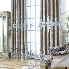 Embroidered European Grey Royal Luxury Curtains for Bedroom Window Curtains for Living Room Elegant Drapes Curtains european style villa luxury embroidered living room decorated bay window curtains high end bedroom floor curtains luxury drapes
