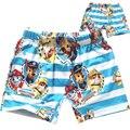 Swimwear 2017 Verão A moda estilo sunga menino cachorro cão dos desenhos animados dos meninos do bebê crianças meninos da praia de natação troncos
