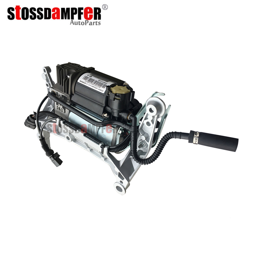 StOSSDaMPFeR Air Suspension Air Compresseur Pompe À Air Avec Support Fit Porsche Cayenne VW Touareg 95535890105 7L0616007D