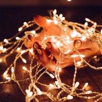 10 м 80 светодиодные лампы строка свет на батарейках DIY для Хэллоуина, Новогодние товары, День благодарения, новый год, свадебные украшения