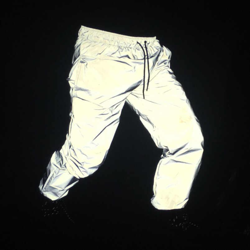 反射夜光付きジャケット男性/女性ヒップホップナイトスポーツ蛍光メンズジャケットコートポケットジャケット