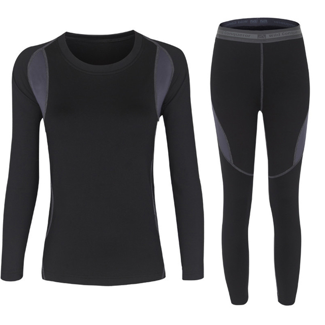 Winter Thermal Two Piece Set Women Hot-Dry Technology