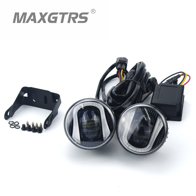 2x 2 5 3 5 Inch With CREE LED Chips Car Fog Light font b Lamp