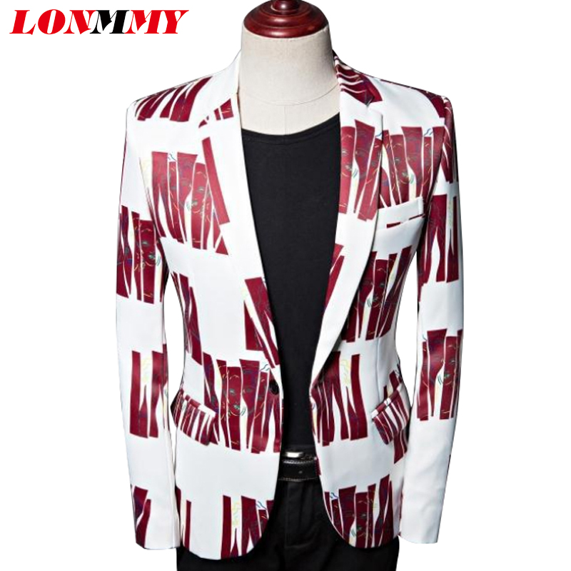 Printing Numérique Impression Blazer Masculino Stade Veste Lonmmy Casual 2018 Pour Mariage Slim Costumes Digital Robe Costume Hommes Fit Terno Le xtdsCrQh