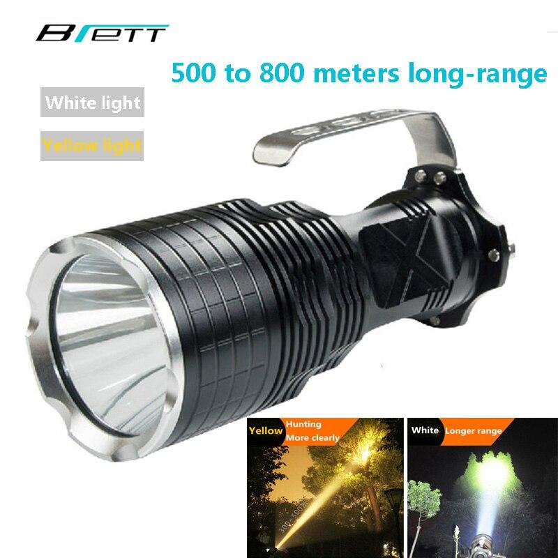 LED lampe de Poche CREE XM-L2 lumière Blanc Jaune 2 couleur options Extérieur Chasse Explorer camping Recherche et éclairage De Secours